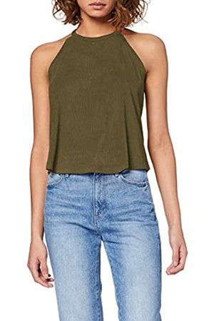 Urban classics Damen Ladies Peached Rib Neckholder Sport Tank Top
