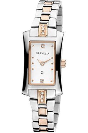 ORPHELIA Damen Uhren - Damen-Armbanduhr Cobra Analog Quarz Edelstahl