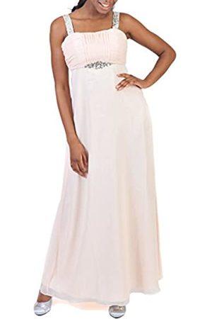 Astrapahl Damen Cocktail Kleid mit Pailletten, Maxi, Einfarbig