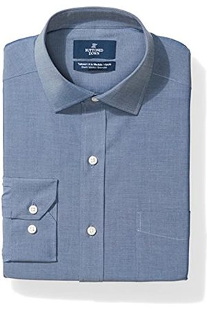 Buttoned Down Tailored Fit Spread-collar Stretch Non-iron Dress Shirt Smoking Hemd