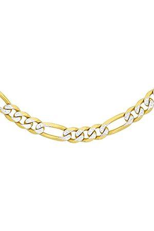 Carissima Gold Carissima Damen 2-farbig 3.6 mm Figaro Halskette 9k (375) 61 cm/24 zoll