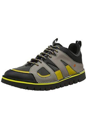 Art Unisex-Erwachsene 1581 Multi Leather Ontario Brogues, (Grey/Yellow Grey/Yellow)