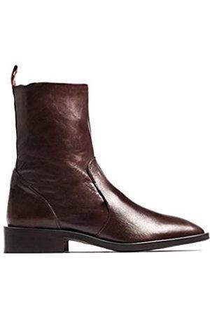 L'INTERVALLE Damen Manchester Brown Leather Halblange Stiefel