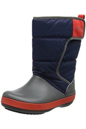 Crocs Unisex-Kinder Schneestiefel Schneestiefel Lodgepoint Snow Boots, Blau (Navy/slate Grey)