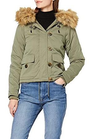 Miss Selfridge Damen Short Khaki Parka