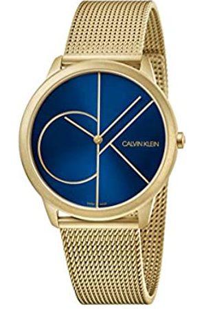 Calvin Klein Herren Analog Quarz Uhr mit Edelstahl Armband K3M5155N