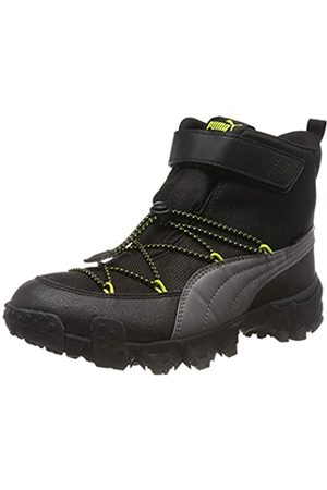 Puma Unisex-Kinder Maka PURETEX V Jr Sneaker, (Castlerock-NRGY Yellow 02)