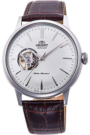 Orient Unisex Erwachsene Analog Automatik Uhr mit Leder Armband RA-AG0002S10B