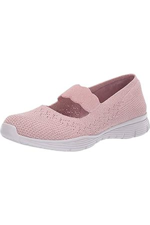 Skechers Women's Seager-Power Hitter Mary Janes, Pink (Rose Ros)