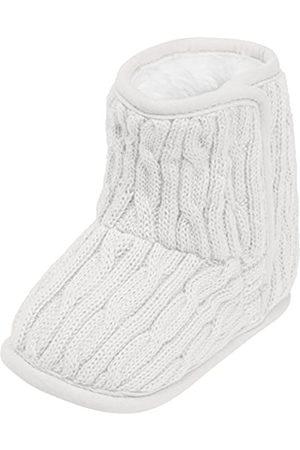Playshoes Gestrickte Baby-Schuhe mit Klettverschluss, (natur)
