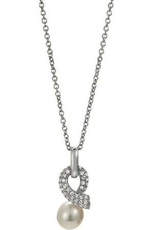ADRIANA Damen-Halskette mit Anhänger Süßwasser Zuchtperlen 925 Sterling Silber A10