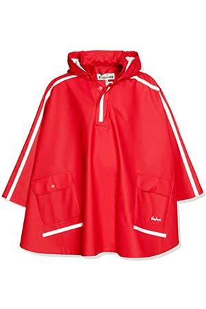 Playshoes Kinder Regencape, leichter Regenponcho, mit extra langem Rücken und abnehmbarer Kapuze