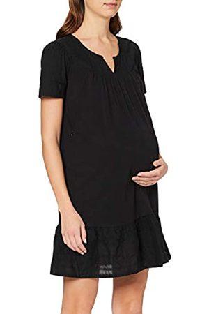 Queen mum Damen Dress Jersey/Woven Nurs Ss Embr Newyork Kleid