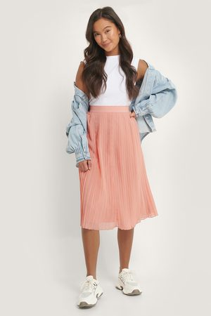 NA-KD Pleated Midi Skirt - Pink