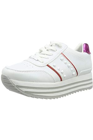 TOM TAILOR Damen 6991401 Sneaker, Mehrfarbig (White-Red 00105)