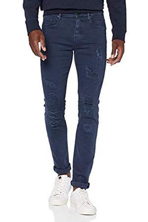 True Religion Herren Rocco Overdyed Patch Skinny Jeans