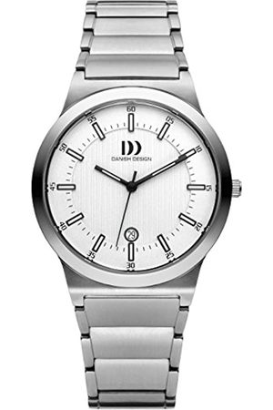 Danish Design Men'Quarz-Uhr mit weißem Zifferblatt Analog-Anzeige und- -Armband Titan DZ120207