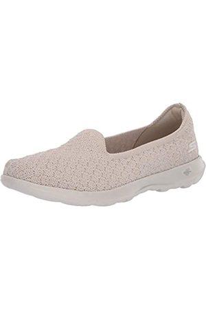 Skechers Damen GO Walk LITE Sneaker, (Natural Textile/Trim NAT)