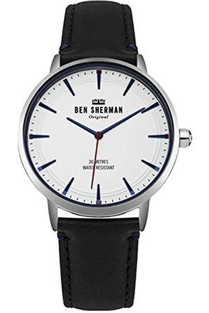 Ben Sherman Herren Datum klassisch Quarz Uhr mit Leder Armband WB020B