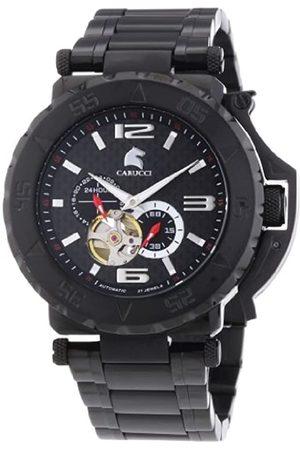 Carucci Watches Herren-Armbanduhr XL Analog Automatik Edelstahl CA2199BK-BK