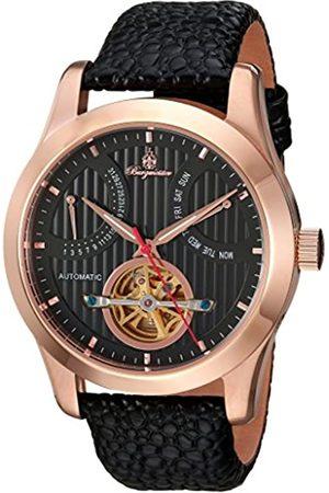 Burgmeister Armbanduhr für Herren mit Analog Anzeige, Automatik-Uhr und Lederarmband - Wasserdichte Herrenuhr mit zeitlosem