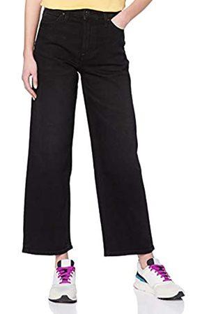 Lee Damen Straight Leg Straight Jeans 5 POCKET WIDE LEG, (Black Tyro Jw)