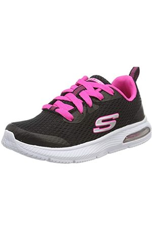 Skechers Girls' DYNA-AIR-JUMP BRIGHTS Trainers, Black (Black Hot Pink BKHP)