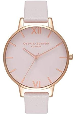 Olivia Burton Damen Analog Quarz Armbanduhr mit Lederarmband