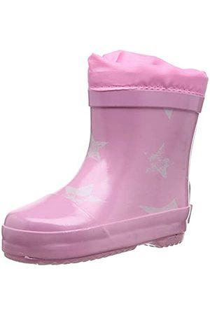Playshoes Unisex-Kinder Short Wellies Warm Lining Stars Gummistiefel, Pink ( 14)