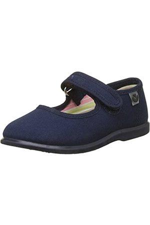 victoria Unisex-Kinder Mercedes Velcro Lona Sneaker, (Marino)