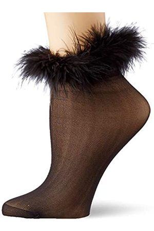 Dreamgirl Damen Marabou-Trimmed Sheer Socken