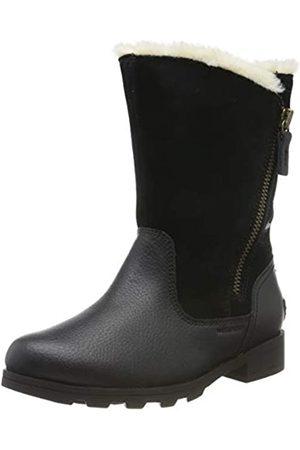 sorel Mädchen Youth Emelie Fold-Over Kurzschaft Stiefel, (Black/Black)