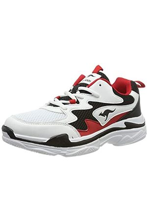 KangaROOS Damen Wave Sneaker, (Jet Black/Red 5069)