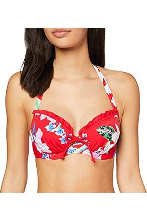 Pour Moi Damen Miami Brights Lightly Padded Halter Underwired Top Bikini