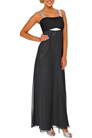 Astrapahl Damen Cocktail Kleid mit Pailletten, Maxi, Einfarbig, Gr. 36