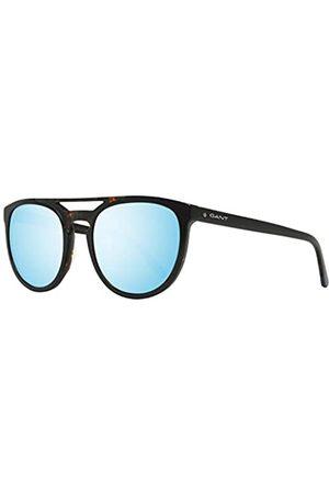 GANT Herren GA7104 Sonnenbrille, (Shiny Black/Blu Mirror)