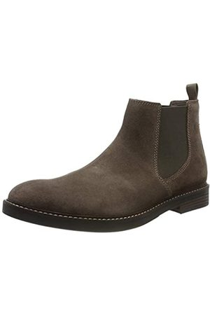 Clarks Herren Paulson Up Chelsea Boots, (Taupe Suede Taupe Suede)