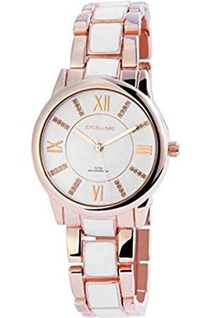 Excellanc Damen Analog Quarz Uhr mit Verschiedene Materialien Armband 150832000026