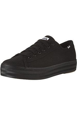 Keds Damen TPL Kick Core Can Sneaker, (Black)