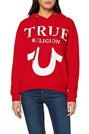 True Religion Damen Hoody Oversize Logo Puffy Print Kapuzenpullover