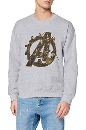 Marvel Herren Infinity War Avengers Logo, (Sports Grey SpGry) L-Sweatshirt