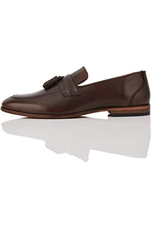 FIND Andrews Leather Tassel Loafers, (Chocolate)