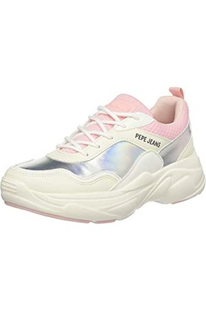 Pepe Jeans London Mädchen SINYU Girl IRIDISCENT Sneaker, (White 800)