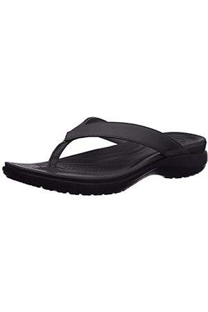Crocs Damen Capri V Flip Flop, (black/graphite)