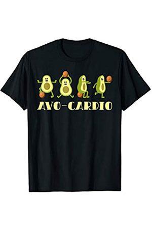 Fitness Avocado Avocardio Laufband Joggen Yoga Avocado AVO-CARDIO Cardio Fitness Sport Design Fitnessstudio T-Shirt