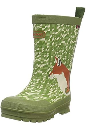 Viking Unisex-Kinder Big Fox Gummistiefel, (Green/Multi 450)