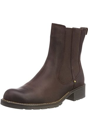 Clarks Orinoco Club, Damen Halbschaft Stiefel, Braun (Burgundy Leather)