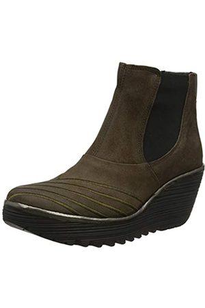 Fly London Damen Yave064fly Chelsea Boots, (Grey/Bronze 007)