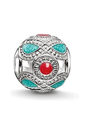 Thomas Sabo Damen-Bead Ethno Karma Beads 925 Sterling Silber türkis K0210-664-7