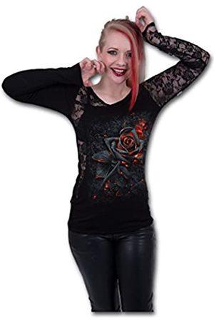 Spiral Damen Burnt Rose-Lace One Shoulder Top Langarmshirt